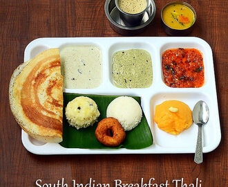 Mini Tiffin Recipes – South Indian Breakfast Thali
