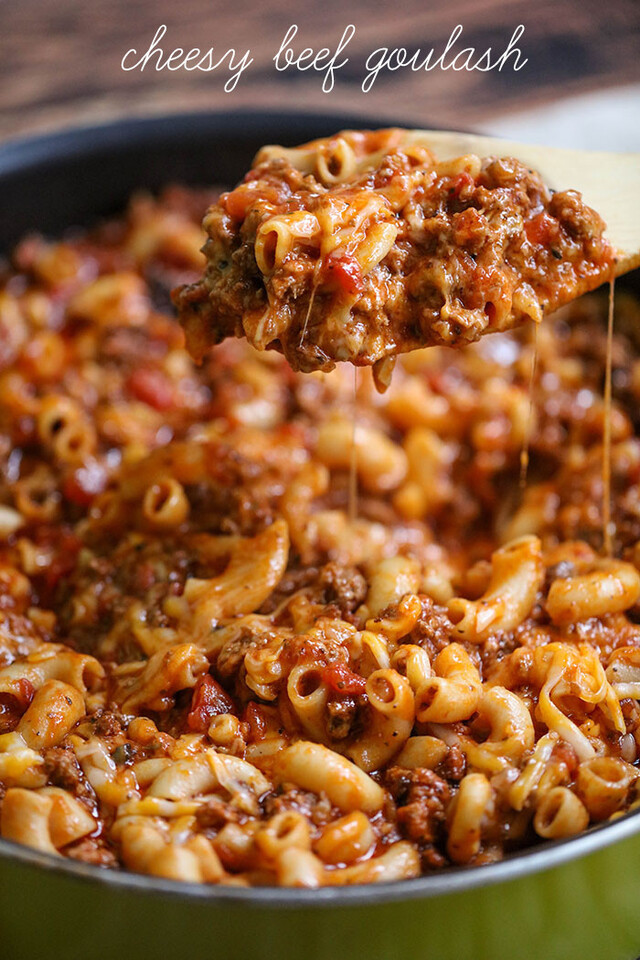 Cheesy Beef Goulash