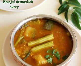 Brinjal drumstick curry recipe