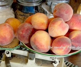 Making Amish Peach Jam