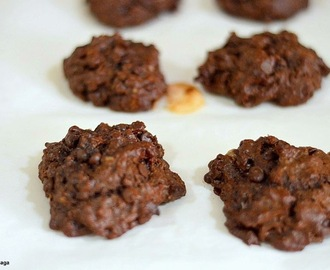 Chocolate banana oatmeal cookies recipe - easy healthy baking recipes