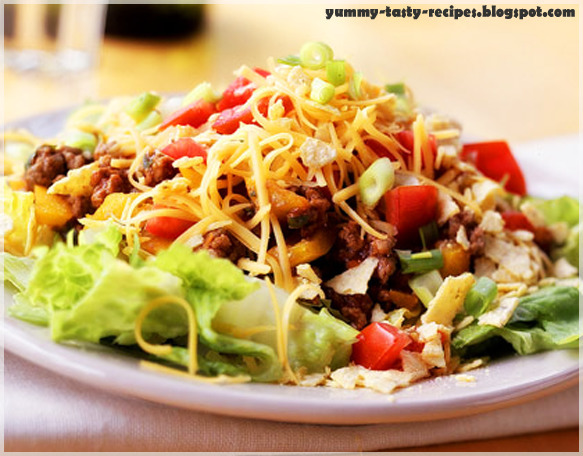 Mexican Salad with taco chips