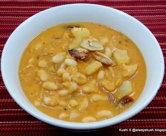 WHITE BEANS IN COCONUT GRAVY