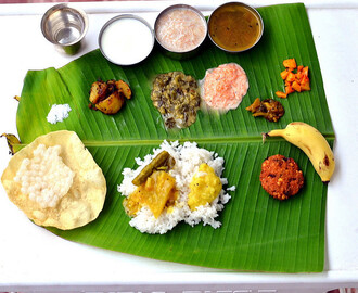 South Indian Full Meals-Lunch Menu For Guests-Thalai Vazhai Ilai Virundhu