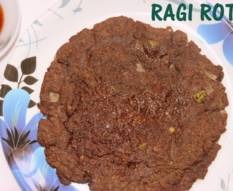 Ragi rotti or ragi roti – how to make fingermillet roti/ragi rotti recipe – Indian recipes
