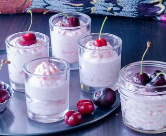 Simple Fresh Cherry Mousse