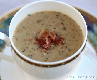 Wild Rice Mushroom Soup with Maple Syrup