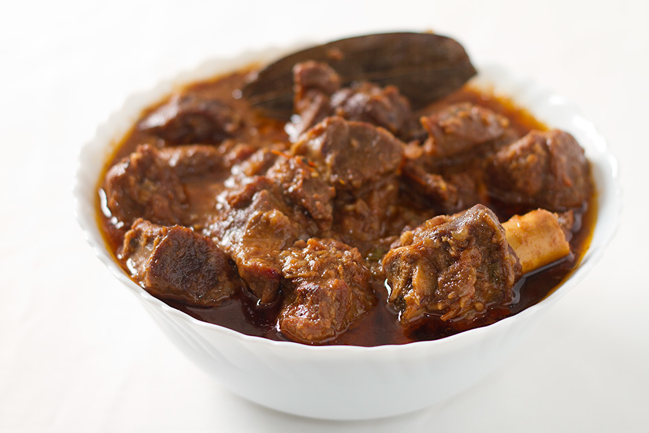 Adraki gosht – Mutton cooked with dried ginger powder