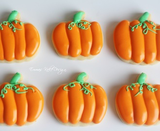 Halloween gresskar Sugar cookies!