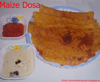 Maize Flour Dosa -- Dosa with Maize Flour -- How to make Maize Flour Dosa