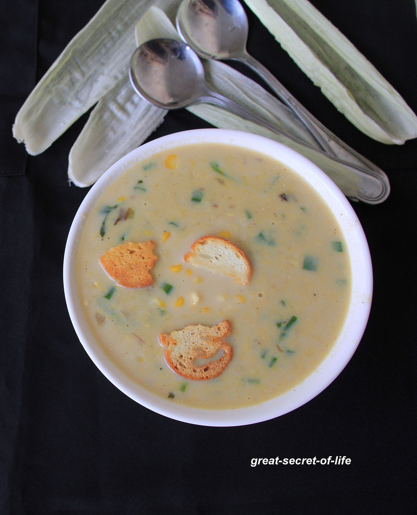 Corn Soup - Easy soup recipe - Starter recipe