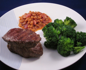 Tenderloin with Country Beans and Broccoli