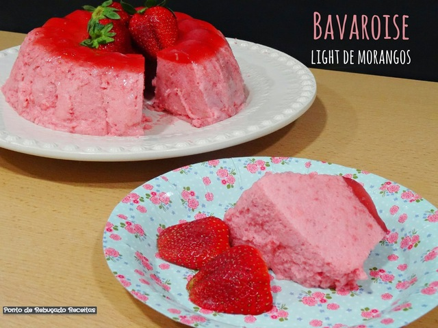 Bavaroise light de morangos