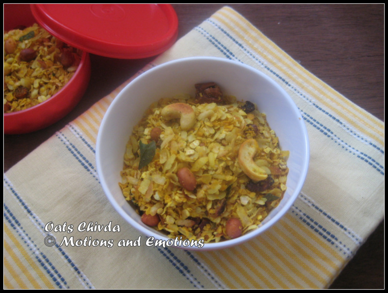 Oats Chivda / Oats and Poha Chivda / Oats Mixture