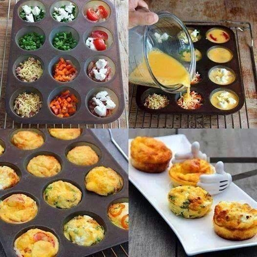 DIY #6 - Mini omeletes no forno