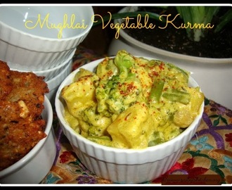 Mughlai Vegetable Kurma Recipe / Mughlai Vegetable Korma Recipe / Vegetable Kurma Mughlai Style