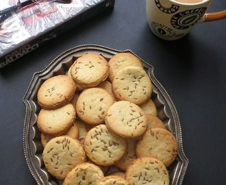 Jeera Biscuit Recipe ,Eggless Cumin Cookies