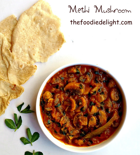 Methi Mushroom Recipe | How to Make Methi Mushroom Sabzi