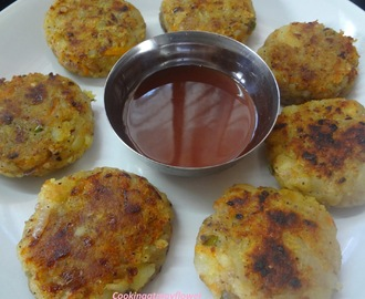 Poha Cutlets/Aval Cutlets/Pressed Rice cutlets