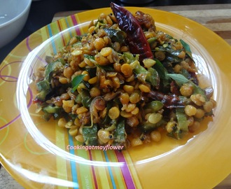 Peechinga Parippu Ularthu / Ridge gourd chana dal stir fry