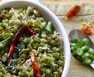 Beans Thoran/Poriyal {South Indian Style Green Beans And Coconut Stir Fry}