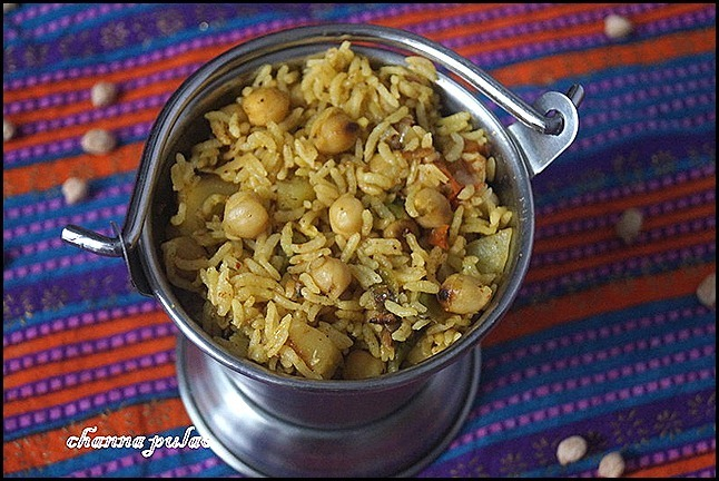 CHANNA PULAO/LUNCH BOX IDEA