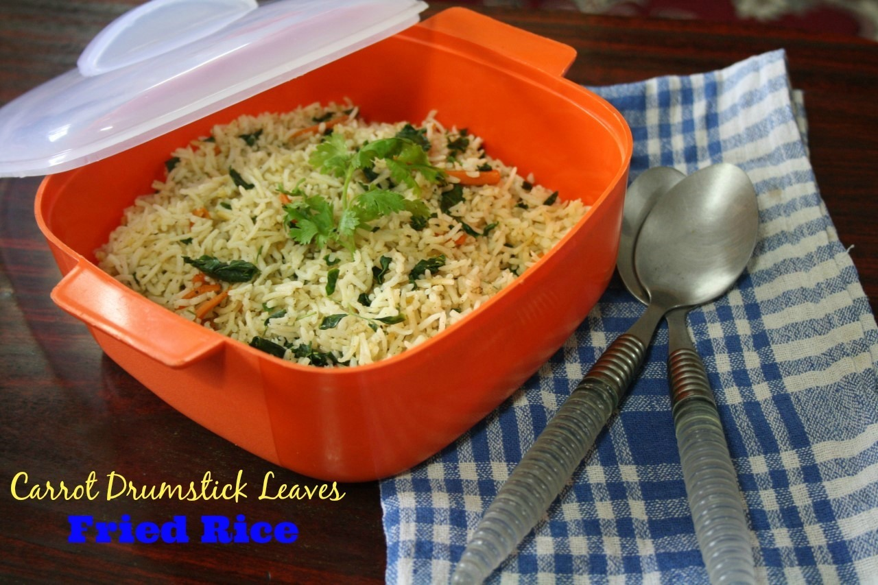 Carrot Drumstick Fried Rice | Easy Kids Lunch Box Recipes