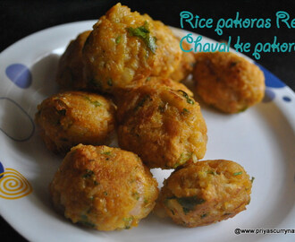Left over Rice pakora Recipe, how to make Pakora from leftover rice