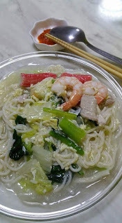 Homemade Seafood Noodle with Noodle Maker
