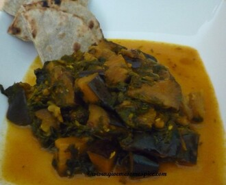 Review post – Frozen Fenugreek and fresh Aubergine curry (methi ringna nu shak)