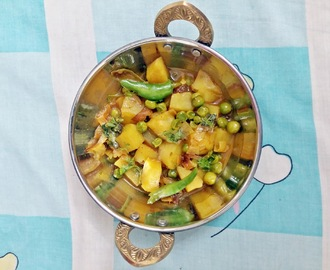 Aloo matar ki sabzi - Potato Green Peas curry