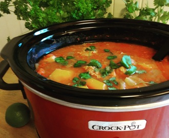 Crock-Pot svinegryte i hot tomatsaus !