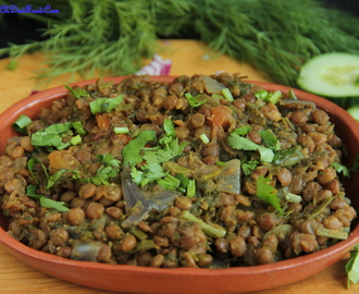 Brown lentils and Dill leaves – Curry (Dry)