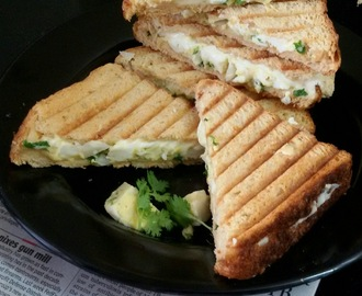 Grilled Egg  Salad Cheese Sandwich