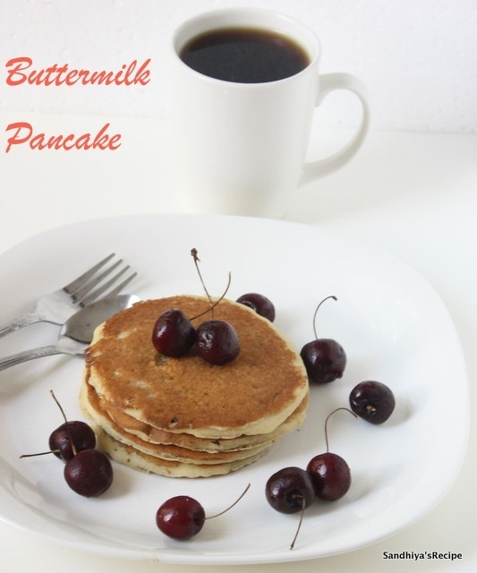 Buttermilk Pancake | Eggless Pancake | Breakfast Recipe