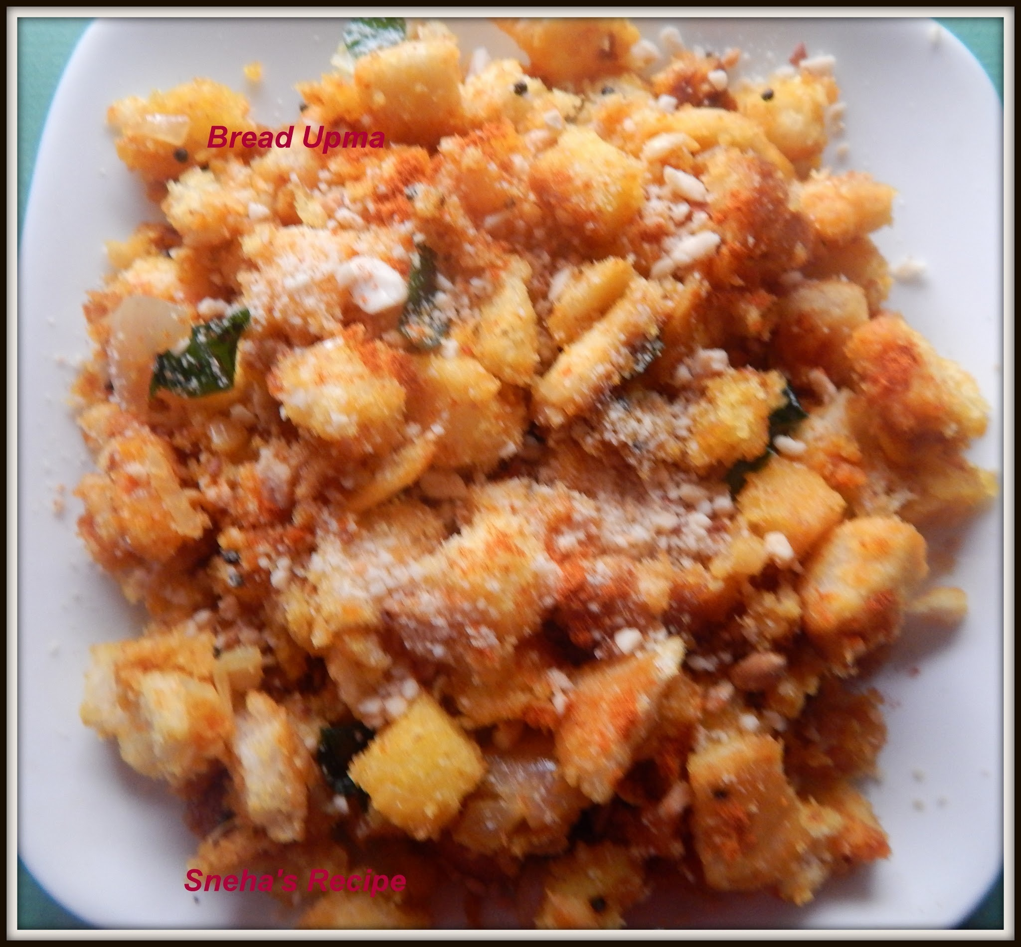 Bread Upma - Quick and Easy Snack / Breakfast