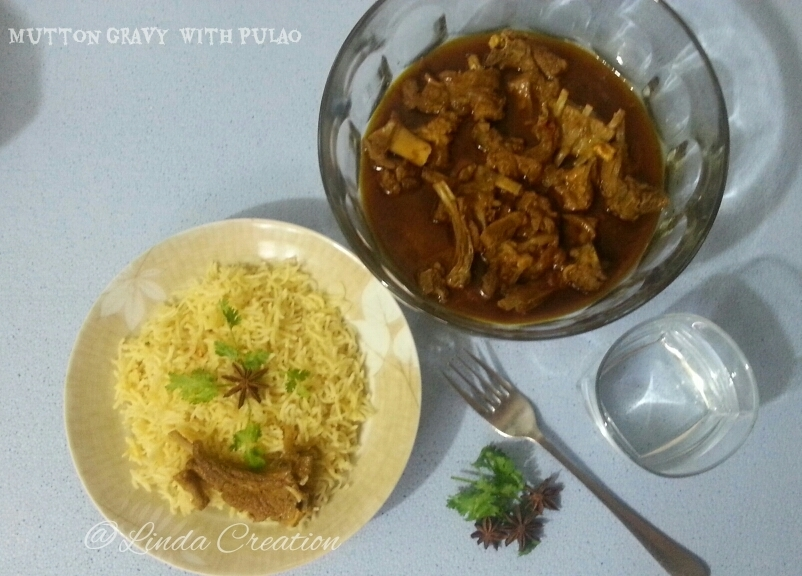 Mutton Gravy with Pulao