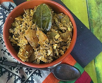 Mochar Ghonto Recipe | Traditional Bengali Recipe |  Steps  to clean the Plantain flower | How to cook Banana Blossom | Traditional Banana Blossom Curry from West Bengal| Gluten Free and Vegan