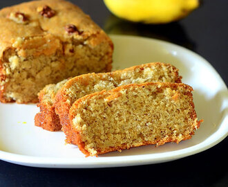 Eggless Banana Cake Recipe - No Butter, Moist, Soft