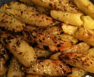 Grilled Potatoes With Butter and Garlic Glaze