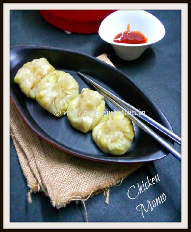 Chicken Momo ~ A Tibetan Delicacy and a mildly spicy Chilli-Garlic Chutney