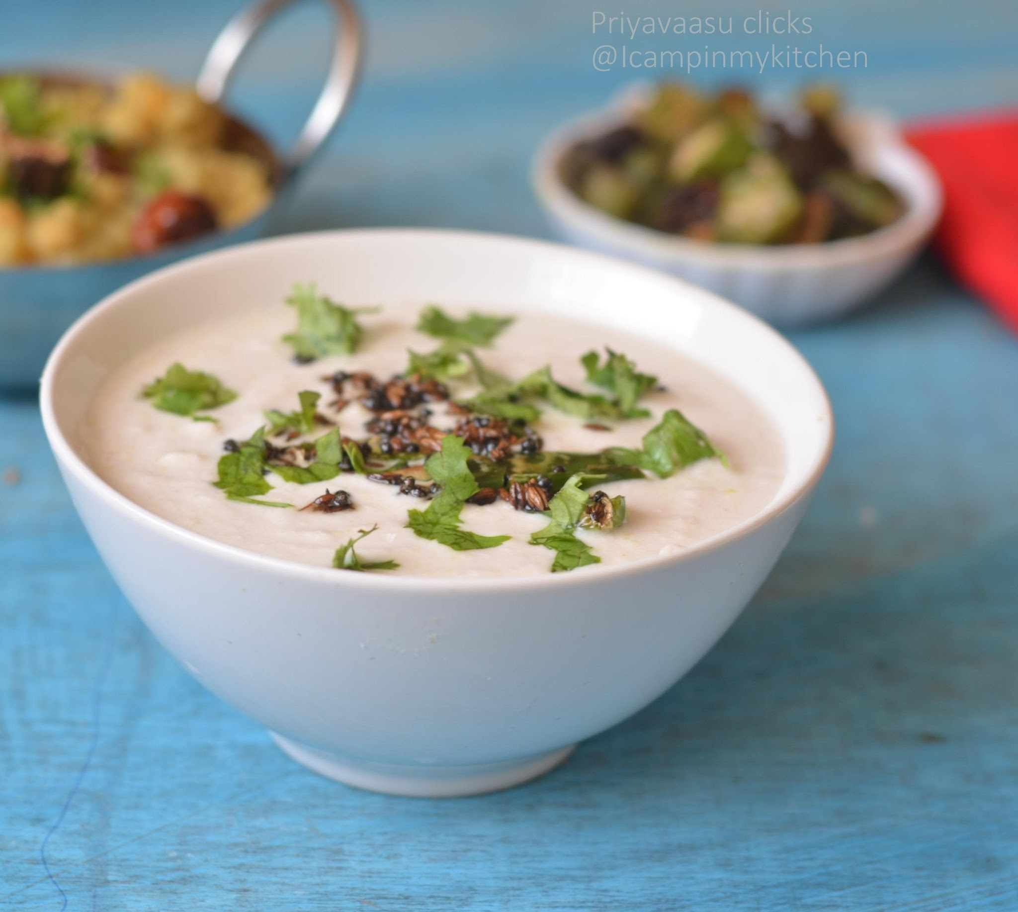 Nellikaai-Thenghai Thayir Pachadi/Amla & Coconut Raita/Indian Gooseberry Yogurt Dip