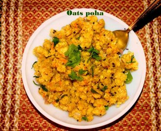 Healthy vegetable oats poha recipe