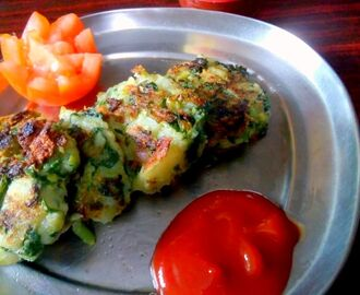 Palak Aloo Kebab | Spinach Potato Patties