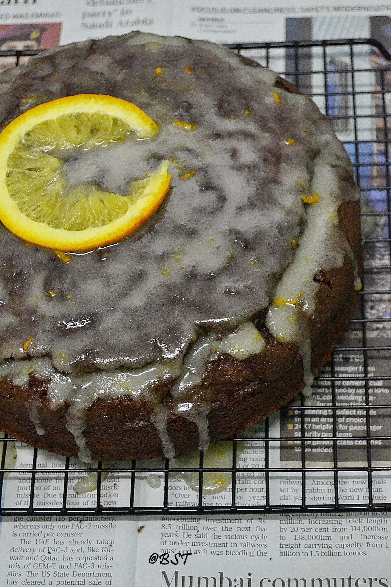 Dark Chocolate Orange Cake with Orange Glaze