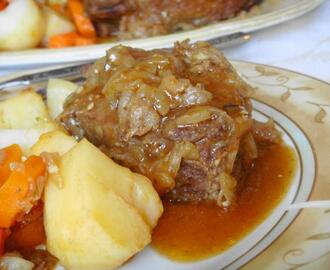 Savory Pot Roast With Pan Gravy (Oven or Crock Pot)