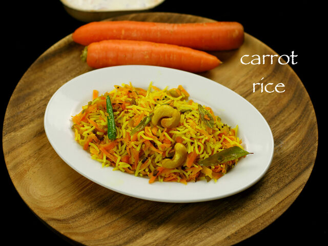 carrot rice recipe | carrot pulao recipe | carrot pulav recipe