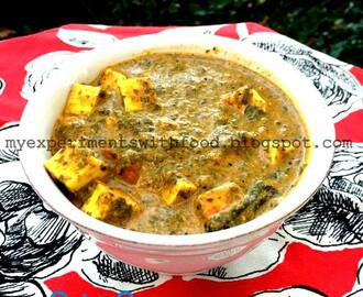 Ula's Palak Paneer using Coconut Milk