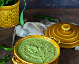 Mint Chutney/Pudina Chutney with Coconut