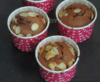 Eggless Peanut Butter & Chocolate Muffins